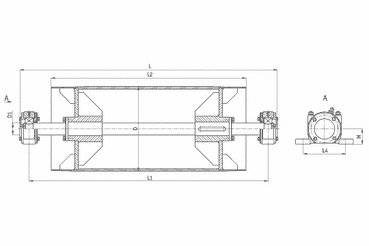 Чертежи приводных барабанов ленточных конвейеров vw транспортер т4 купить