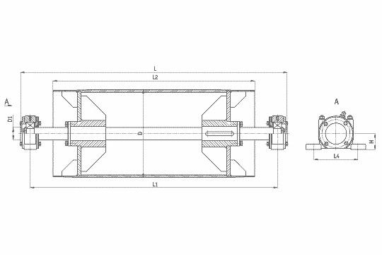приводной барабан на конвейер цена
